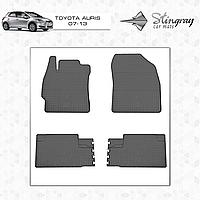 Комплект резиновых ковриков Stingray для автомобиля  TOYOTA Auris E150 2007-2013    4шт.