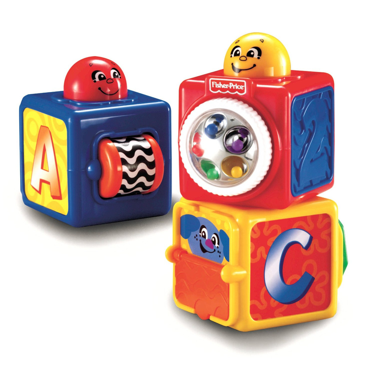 Кубики детские двигающиеся Фишер Прайс Fisher Price 74121