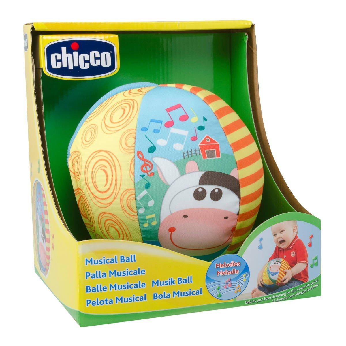 Мягкая игрушка Чикко Мячик музыкальный с коровкой Chicco 05836.00