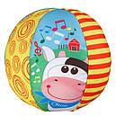 Мягкая игрушка Чикко Мячик музыкальный с коровкой Chicco 05836.00, фото 2