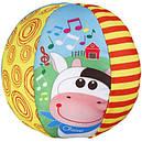 Мягкая игрушка Чикко Мячик музыкальный с коровкой Chicco 05836.00, фото 3