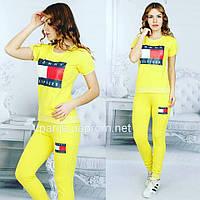 Женский летний костюм  Hilfiger желтого цвета