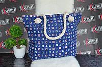 Пляжная женская сумка синяя