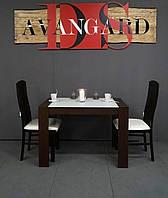 Стол обеденный «Модерн» венге с белым стеклом