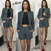Стильный костюм пиджак+шорты в расцветках МС-004.010