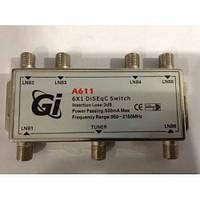 DISEqC 6×1 GI  A611 (6×1 DISEqC Switch)