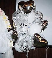 Фонтан из 21-го  гелиевого шара
