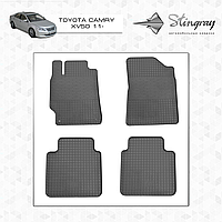Комплект резиновых ковриков Stingray для автомобиля  TOYOTA CAMRY V50 2011-      4шт.