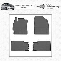 Комплект резиновых ковриков Stingray для автомобиля  TOYOTA COROLLA E140 2007-2013    4шт.