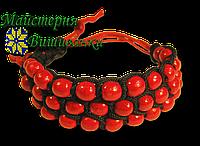 Браслет плетений з дерев'яних намистин, фото 1