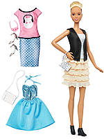 Кукла Барби Модница (Barbie Fashionistas & Fashions Leather & Ruffles Doll, Tall Blonde)