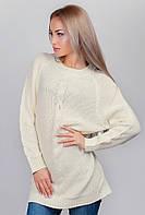 Платье-туника женское вязаное, светлое AG-0002810 (Молочный)