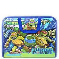 Папка портфель на молнии с тканевыми ручками Ninja Turtles