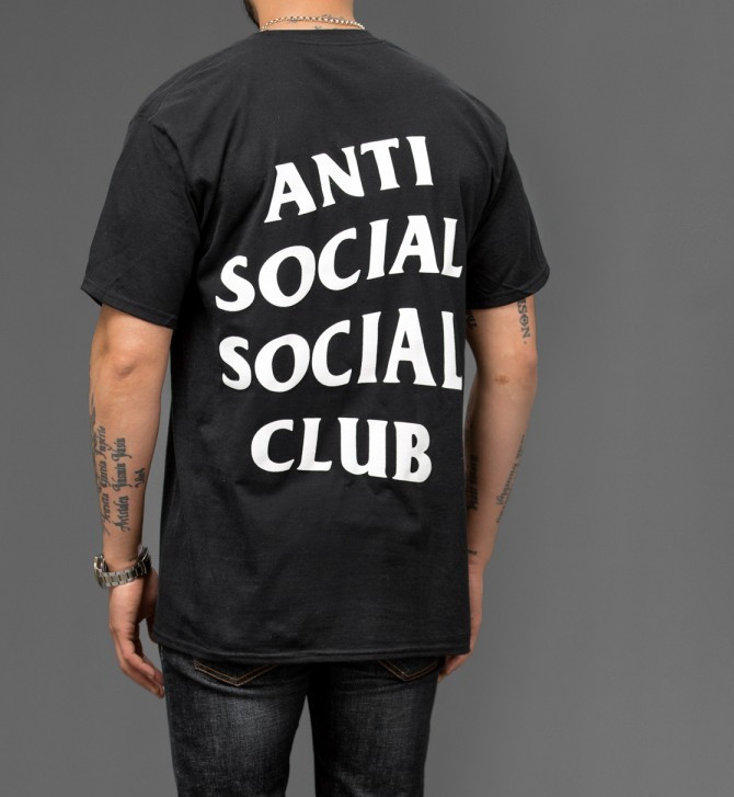 "Футболка с принтом A.S.S.C.""Anti Social social club""   мужская"