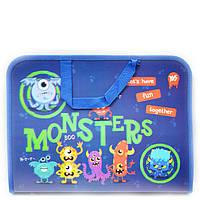 Папка портфель на молнии с тканевыми ручками Monsters