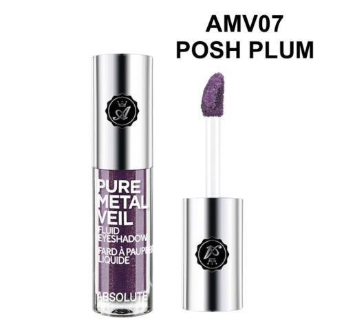 Жидкие тени Absolute Pure Metal Veil Eyeshadow - Posh Plum
