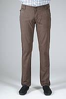 Джинсы мужские котоновые Stravt, облегчённые, серо-коричневые