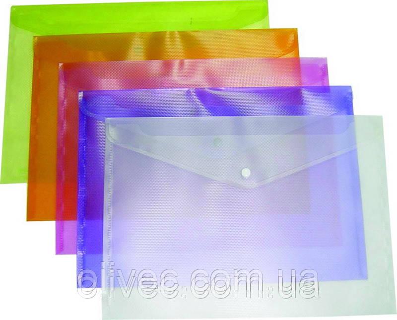 """Папка-конверт на кнопке """"Buromax"""" A4"""
