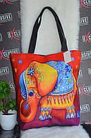 """Яркая сумка """"Слон""""."""