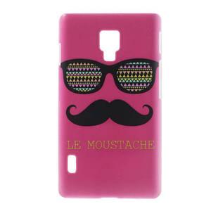 "Чехол пластиковый матовый на LG Optimus L7 II P713 / P710, ""Le Moustache"""