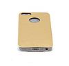 Чехол бампер металл  iPhone 5 5S золотистый с камнями