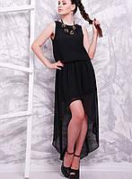 Черное платье со шлейфом (1600 mrs)