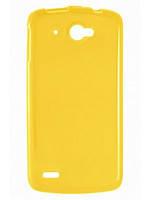 Cиликоновый чехол Lenovo A706 A760 желтый