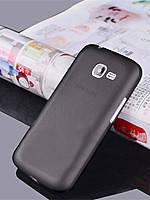 Cиликоновый чехол 0.3mm Samsung J1 черный, фото 2