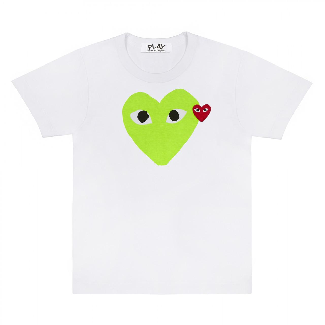 Футболка с принтом Comme des Garcons Heart Logo мужская