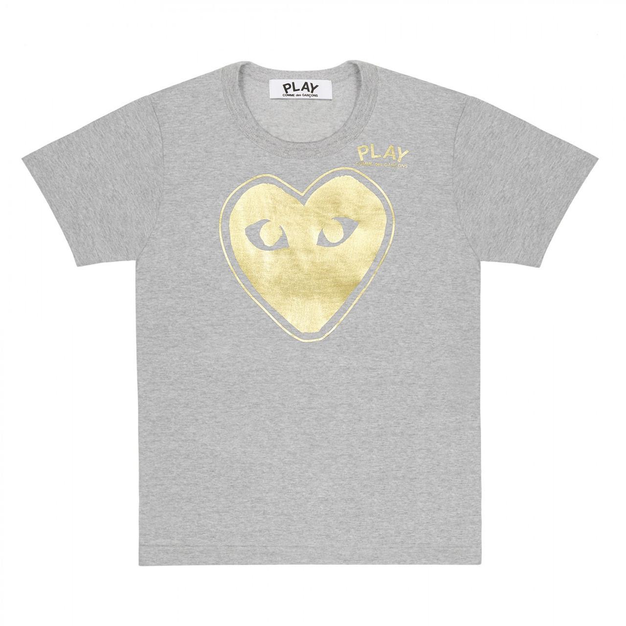 Футболка с принтом Comme des Garcons Double Heart Logo мужская