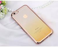 Силиконовый чехол Fashion Case Gradient для iPhone 6 желтый, фото 2
