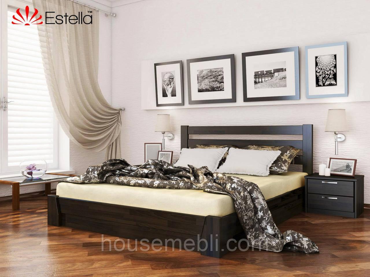 Деревянная кровать Селена(щит) 180*200