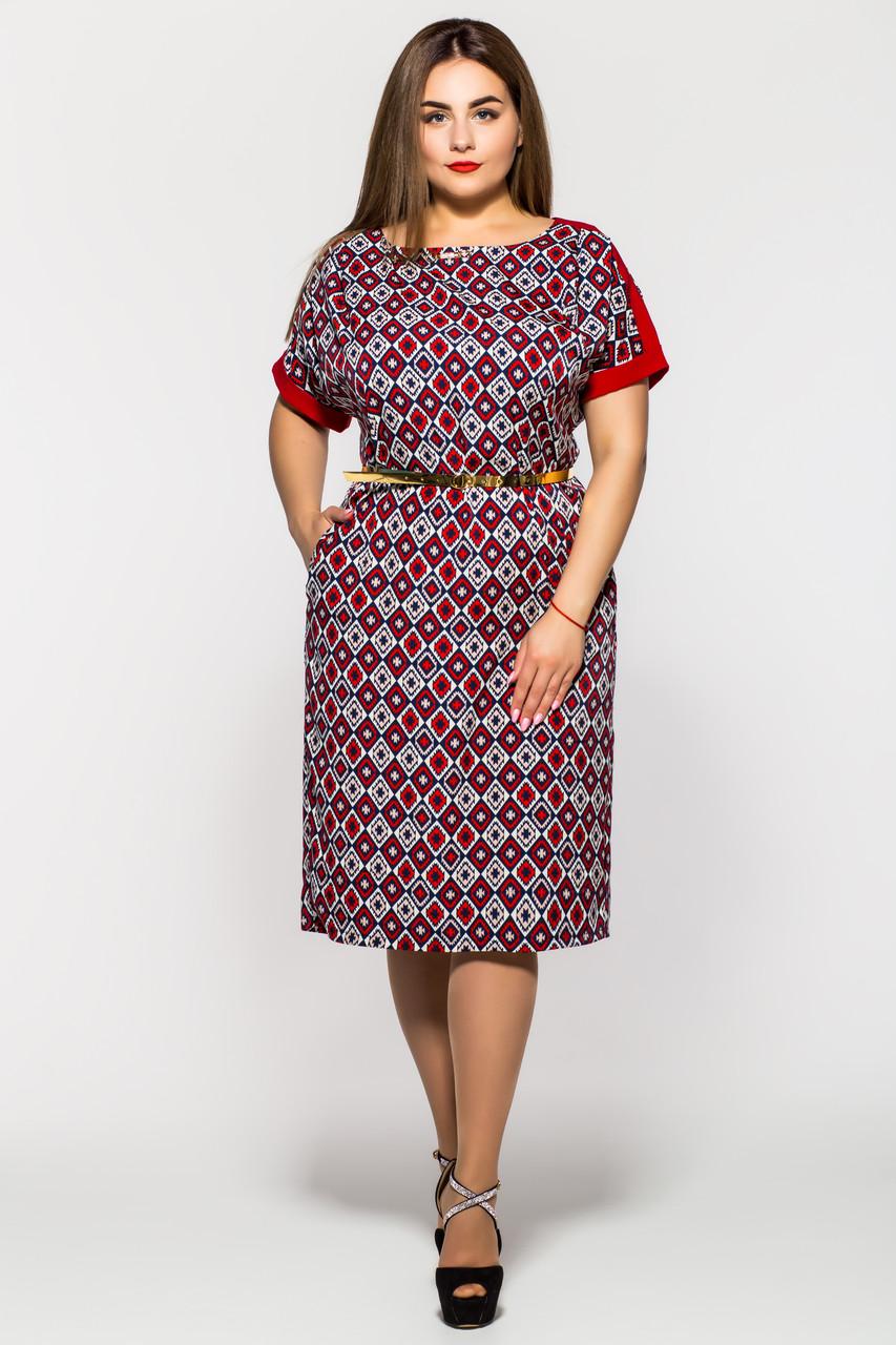 Летнее платье ромб