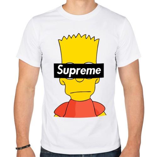 Мужская футболка Supreme White