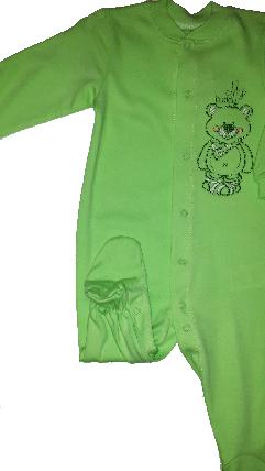 Комбинезон человечек хлопковый ТМ Бемби КБ77 зеленый без капюшона размер 74 80 , фото 2