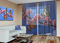 "ФотоТюль ""Две бабочки"" (2,5м*4,5м, на длину карниза 3,0м)"