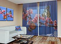 "ФотоТюль ""Две бабочки"" (2,5м*3,0м, на длину карниза 2,0м)"