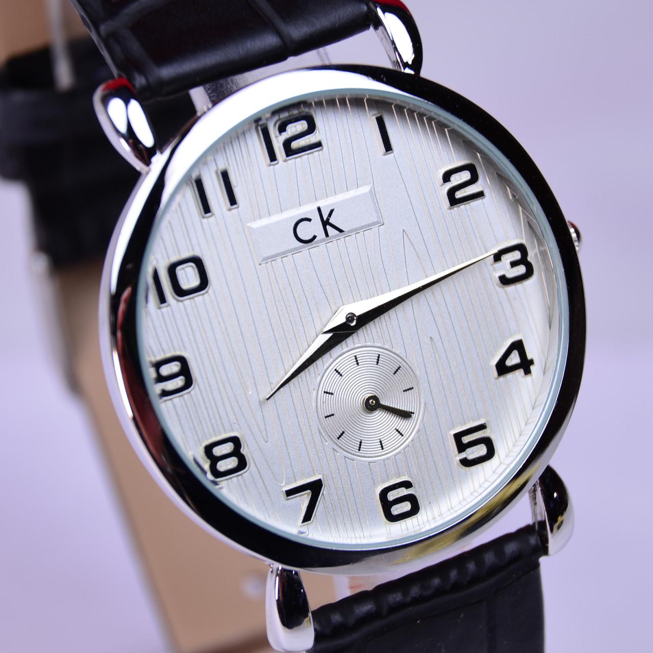 Часы наручные CK Calvin Klein белый циферблат, фото 1