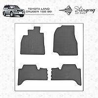 Комплект резиновых ковриков Stingray для автомобиля  TOYOTA LAND CRUISER 100 1998-2007    4шт