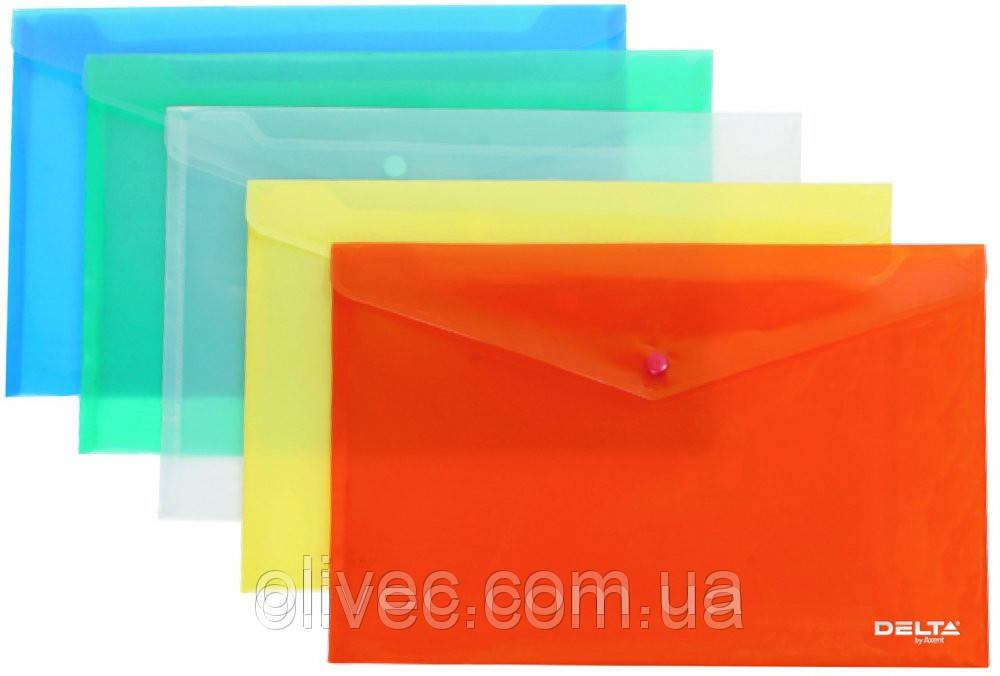 """Папка-конверт на кнопці """"Delta"""" A4"""
