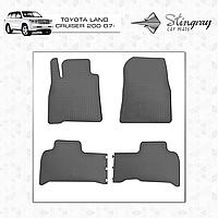Комплект резиновых ковриков Stingray для автомобиля  TOYOTA LAND CRUISER 200 2007-2015    4шт