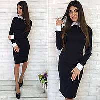 Офисное платье / кукуруза, коттон / Украина