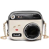 Оригинальная женская сумка в виде фото-камеры. На цепочке