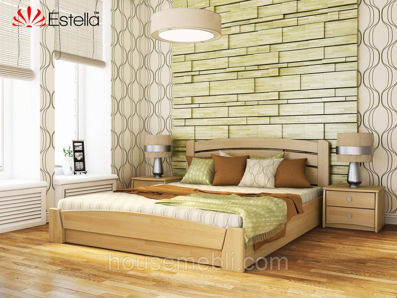 Деревянная кровать Селена АУРИ(щит) 120*200
