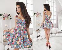 Летнее платье в цветок