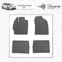 Комплект резиновых ковриков Stingray для автомобиля  TOYOTA PRIUS 2012-     4шт.
