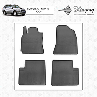 Комплект резиновых ковриков Stingray для автомобиля  TOYOTA RAV 4 2000-2006    4шт.