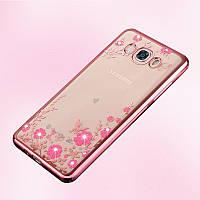 Чехол для Galaxy J5 2016 / Samsung J510 Flowers