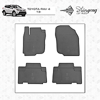Комплект резиновых ковриков Stingray для автомобиля  TOYOTA RAV 4 2013-     4шт.