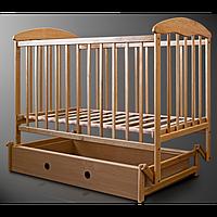Кроватка Наталка маятник, ящик